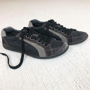 Prada   Men's Suede/Nylon Sneaker   Black   9 ½